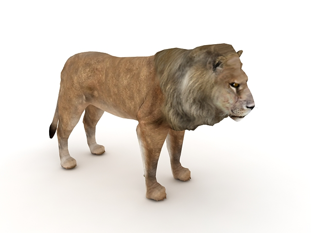Male Lion 3d Model 3ds Max Files Free Download Modeling