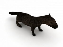 Sea otter 3d model