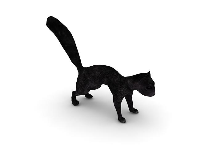Black Squirrel 3d Model 3ds Max Files Free Download