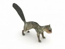 Eastern gray squirrel 3d model