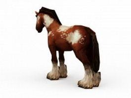Miniature horse 3d model