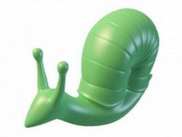 Garden snail statue 3d model