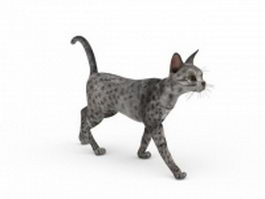 Silver Egyptian Mau 3d model