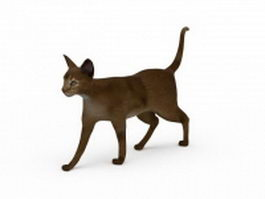 Abyssinian cat 3d model