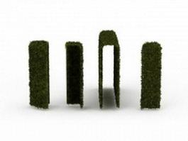 Trimmed hedge 3d model