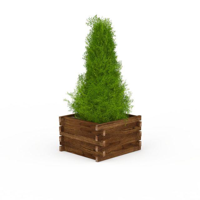 Outdoor Garden Planter Box 3d Model 3ds Max Files Free