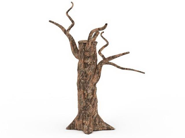 Dead Tree Stump 3d Model 3ds Max Files Free Download