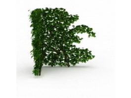 Corner green wall 3d model