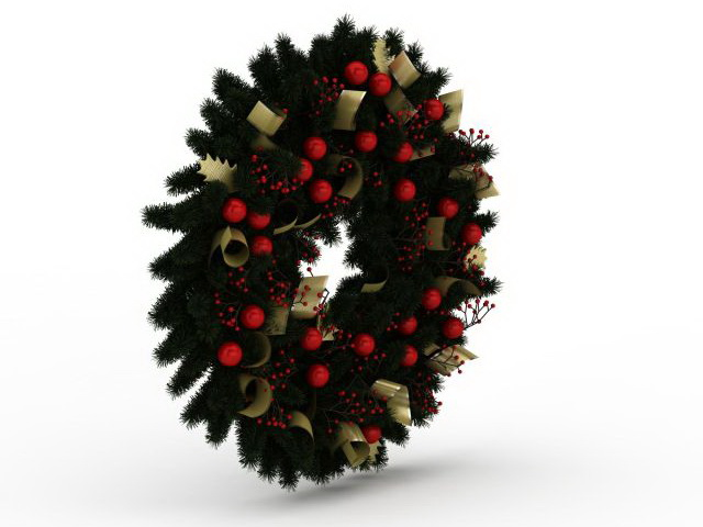 Christmas Wreath 3d Model 3ds Max Files Free Download