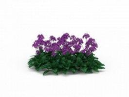 Purple flower plants 3d model