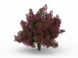Flower blooming tree 3d model