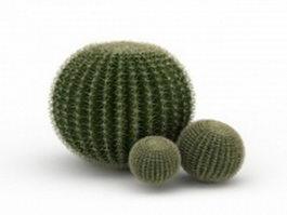 Silver ball cactus 3d model