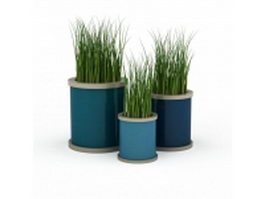 Decorative outdoor planters 3d model