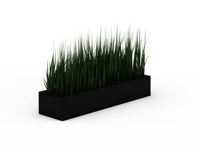 large grass planter 3d model for 3ds max wheat grass planter for garden available 3d file format max 3d studio max vray render