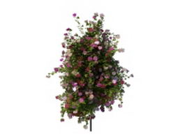 Outdoor flower pot stand 3d model