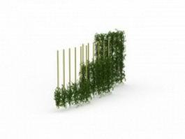 Green wall fencing 3d model