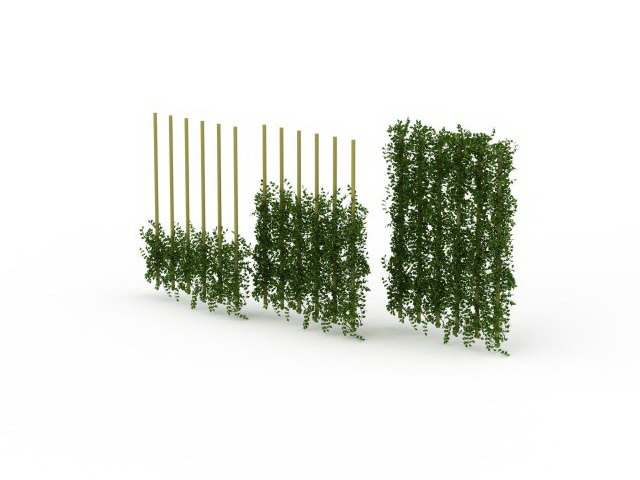 Green Wall Fencing 3d Model 3ds Max Files Free Download