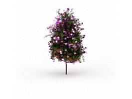 Flower pot arrangement 3d model