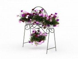 Flower pot plant stands 3d model