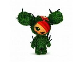 Topiary figure 3d model