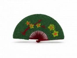 Fan shaped garden topiary 3d model