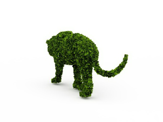Topiary Lion 3d Model 3ds Max Files Free Download