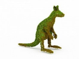 Topiary kangaroo for the yard 3d model