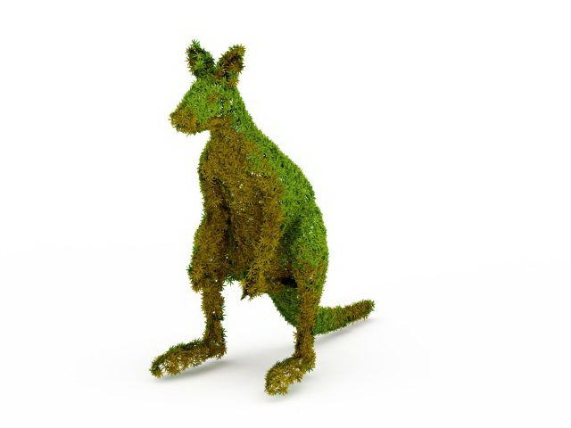 Topiary Kangaroo For The Yard 3d Model 3ds Max Files Free