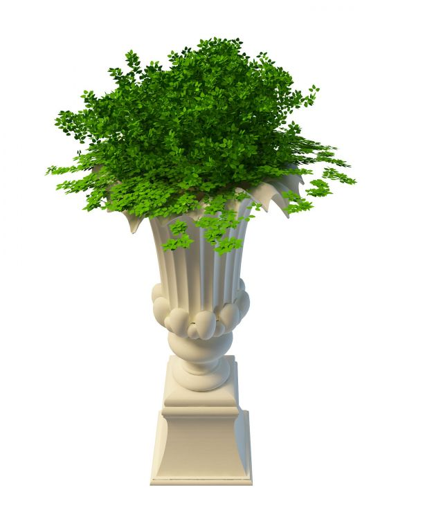 Tall Garden Planter And Urn 3d Model 3ds Max Files Free