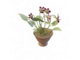 Potted plant flowers 3d model