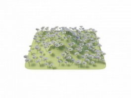 Flower grass piece 3d model