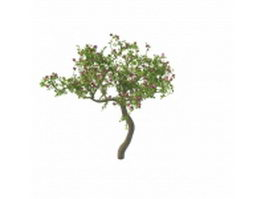 Blooming flower tree 3d model