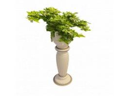 Roman urn garden planter 3d model