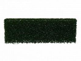 Trimmed hedge shrub 3d model