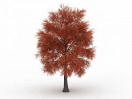 Red coniferous tree 3d model