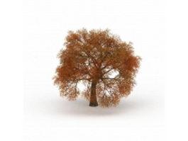 Fall leaves autumn tree 3d model