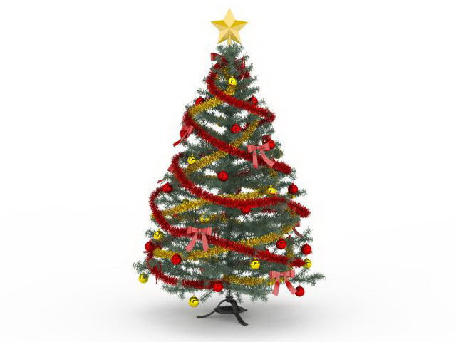 Victorian Christmas Tree 3d Model 3ds Max Files Free