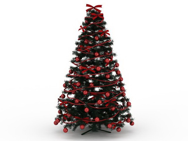 Red Christmas Tree 3d Model 3ds Max Files Free Download Modeling 30029 On Cadnav