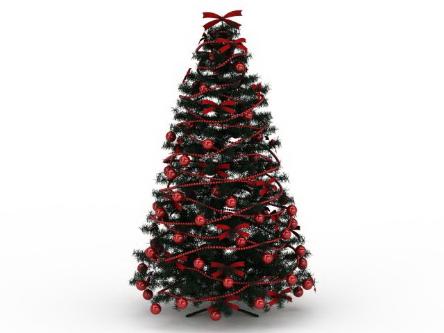 Red Christmas Tree 3d Model 3ds Max Files Free Download