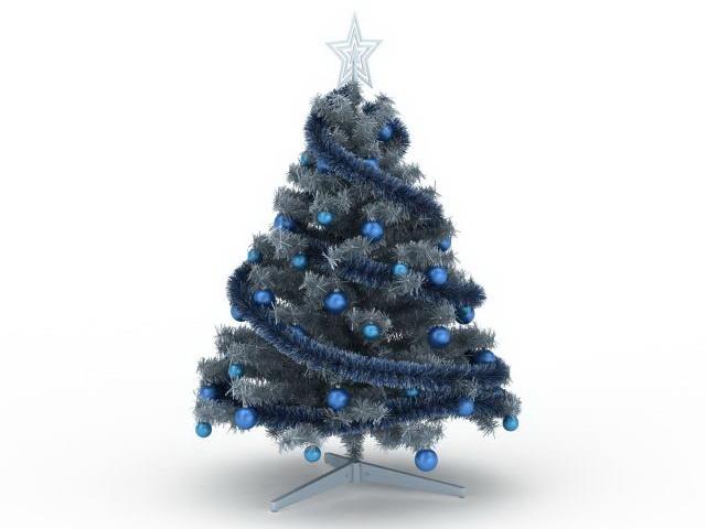 Blue Christmas Tree 3d Model 3ds Max Files Free Download Modeling 30033 On Cadnav