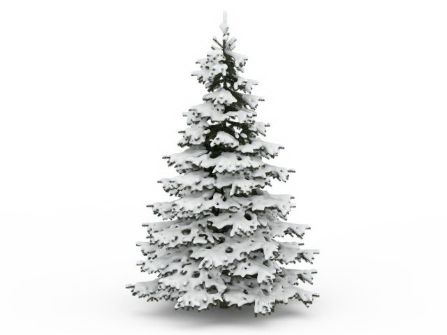 snowy pine tree 3d model 3ds max files free download modeling
