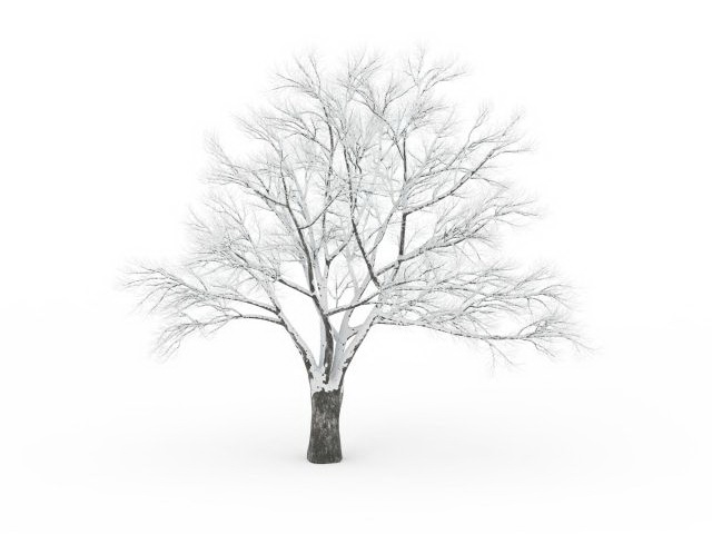 snow bare tree 3d model 3ds max files free download
