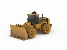 Wheel compactor bulldozer 3d model