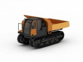 Tracked haul truck 3d model