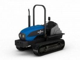 Track tractor 3d model
