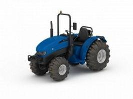 Blue farm tractor 3d model