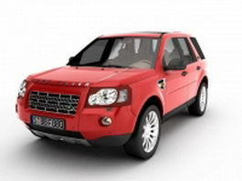 Land Rover Freelander red 3d model