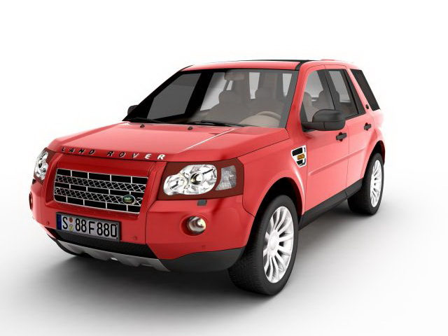 Land Rover Freelander red 3D Model