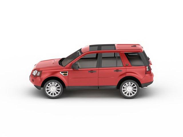 3dSkyHost: Land Rover Freelander red 3D Model