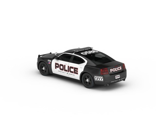 Us Police Car 3d Model 3ds Max Files Free Download